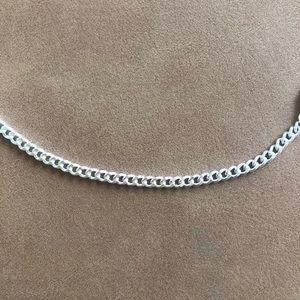 Silver Cuban Chain Necklace